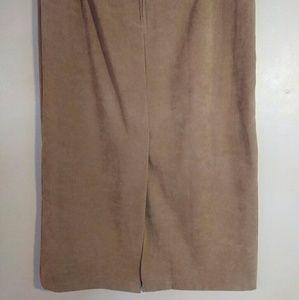 Briggs New York Skirts - Briggs New York 6P Tan Brown Maxi Skirt